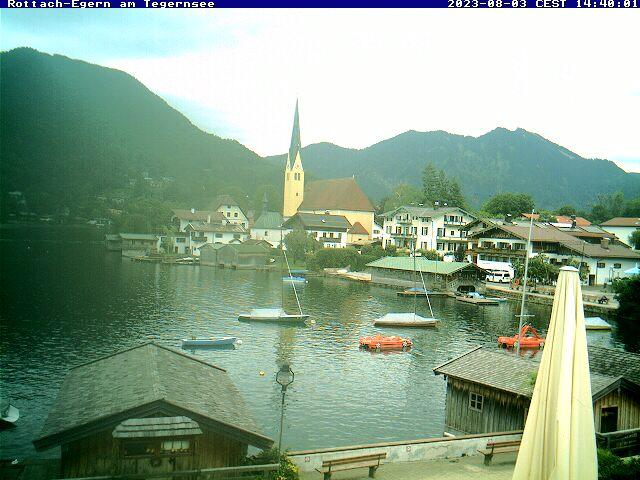 Webcam Skigebiet Rottach-Egern - Wallberg Ort - Oberbayern