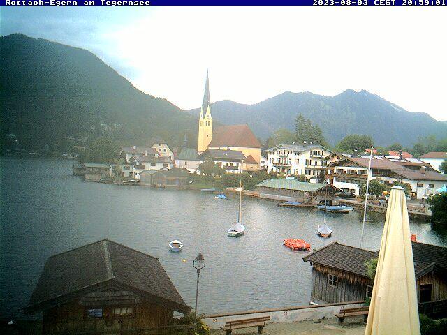 Webcam Skigebied Rottach-Egern - Wallberg Ort - Alpen Oberbayern